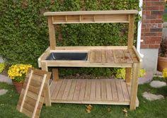 10 Free Potting Bench PlansPlans For A Potting Bench