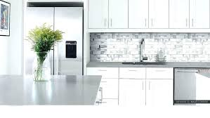 grey and white tile backsplash gray and white tile modern white metal tile gray white kitchen