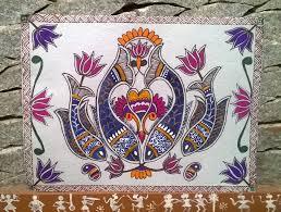 Mithila Painting Bed Sheet Design Madhubani Painting Fish Designs My Latest Painting