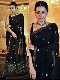 Bollywood Partywear Black Saree In Georgette SF223NX – Siya Fashions