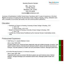 nursing resume sample