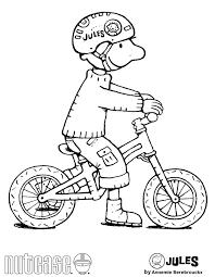 Jules Kleurplaat Fiets Kleuterklas Klaspop Character