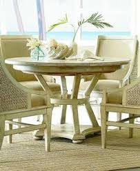 americana home artisan s round oval pedestal dining table weathered white american drew