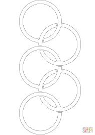 Klassieke Olympische Ringen Kleurplaat Gratis Kleurplaten Printen