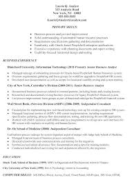Business Analyst Resume Samples Examples Resume Letter Collection