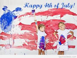 kids drawing happy 4th of july