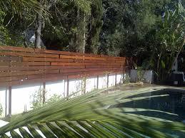custom horizontal floating wood fence monrovia 91016 built by woodfenceexpert com