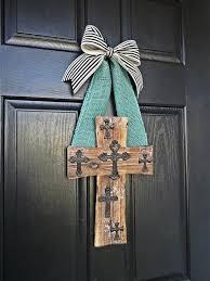 items similar to cross wreath cross door hanger door hangers cat flap in french doors