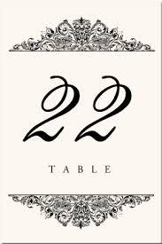 table number cards. paisley power 1-1 table number cards