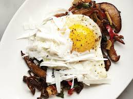 roasted mushrooms with bacon and eggs from downtown italian