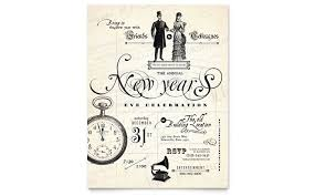 new year s template vintage new years party flyer template design