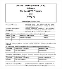Example Internal Service Level Agreement Template Internal Service ...