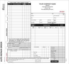 Repair Order Form Mesmerizing 48 Part Auto Repair Order Forms Valid In California With Carbon