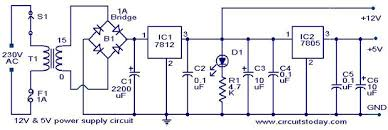 12v 5v combo power supply electronic circuits and diagram 12v 5v power supply jpg