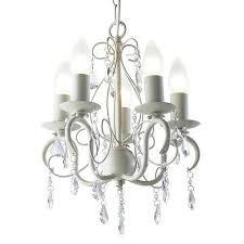 dar lydia mini 5 light pendant ceiling chandelier in a soft cream finish lyd0533