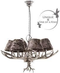 funky huntsman silver antler chandelier