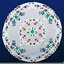 36 round tablecloth lace applique edelweiss 2 inch size 36 round tablecloth