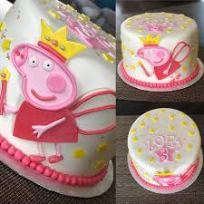 Peppa Pig Birthday Cake Nc Cake Couture Custom Cake Design