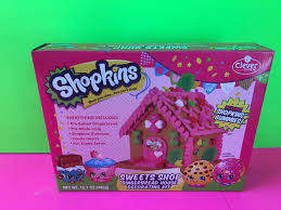 Premade Gingerbread Houses Shopkins Sweets Shop Gingerbread House Decorating Kit Youtube