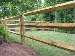 wood and wire fences. Wire And Wood Fence Split Rail Mesh Installing With Posts . Fences