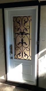 decorative front doors wrought iron single door half glass with wrought iron front entry door exterior