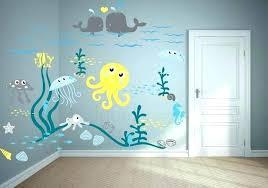 beach themed wall decals ocean decor jellyfish adventure nursery decal sea nautical australia