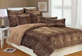 leopard print bedspread comforter set sets sheets queen size