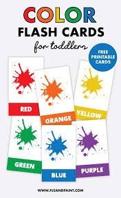 Everyone loves color by numbers, kids and adults alike. Free Printable Color Flash Cards For Toddlers Help Kids Learn Colors