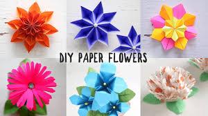 Diy Paper Flower 6 Easy Diy Paper Flowers Youtube