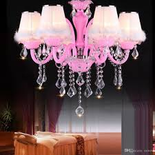 Großhandel Oovov Prinzessin Zimmer Kristall Kronleuchter Mode Wohnzimmer Schlafzimmer Kinderzimmer Pendelleuchten E14 Rosa Weiß Von Oovov 29448 Auf