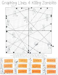 Slope Int Form Math Graphing Lines Zombies Slope Intercept Form