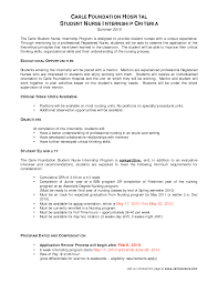 Nurse Resume Objective For Nursing Examples Nursing Student Resume