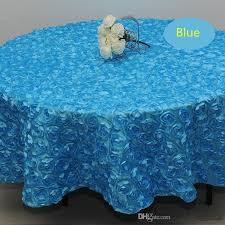 whole 120 inches white color wedding table cloth round overlays 3d rose petal round tablecloths wedding decoration supplier holiday tablecloths 70 inch