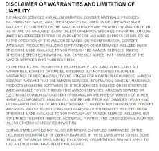 cv video template disclaimer of warranties from amazon conditions use video copyright