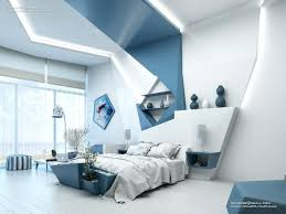 Bedroom Blue Accent Wall Blue And White Geometric Feature Accent Wall  Panels Awesome Ideas For Your
