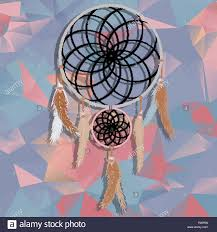 Beautiful Dream Catcher Images beautiful dream catcher on polygonal background with triangles 76