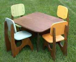 childs table chairs wooden kids and chair set 3 piece crayon wood children activity playroom furniture