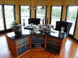 desk office home. Dual Desks Home Office Traditional With Black Trim Bookcase Bookshelves Desk