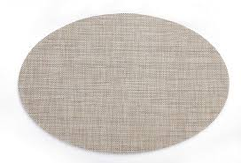 hysenm 4pcs pack oval shape heat insulation stain resistant washable woven table mats placemats flaxen