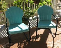 vintage iron patio furniture. Retro Metal Patio Furniture With The Striking Combination Turquoise And  Black Colors Vintage Iron Patio Furniture