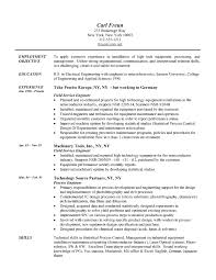 Resume Template Engineering Field Engineer Resume Example Engineering  Sample Resumes Template