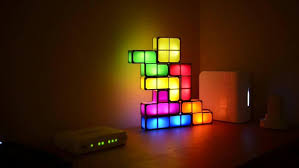 new rechargeable tetris stackable led desk lamp ng box is below