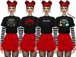 Wicked_Kittie's Wickedkittie | Kara Layered Tee Shirts | Mesh Needed