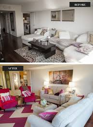 Pink Living Room Chairs See The Amazing Before And After Photos From This Bachelorette Pad