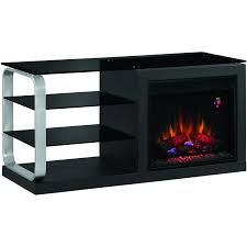 Luxe 52-Inch Electric Fireplace Media Console - Black Metal ...