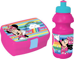 Diakakis Lunch Set Minnie Mousebread Drum With Cup Pink Internet Toys