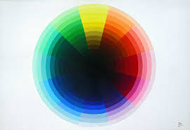 real color wheel original painting