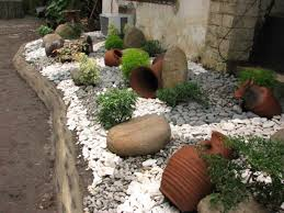 Small Picture Exellent Garden Ideas With Pebbles On Design