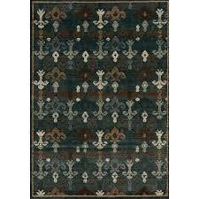 kalora interiors cozumel brown blue fleur de lis rug 8 x10