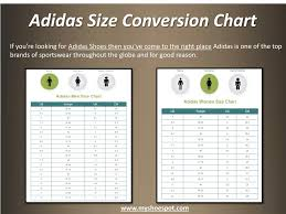 Adidas Men Shoes Size Chart Ppt Shop Your Favorite Shoes With The Help Of Shoe Size